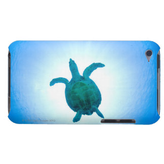 Sea turtle swimming underwater iPod touch case