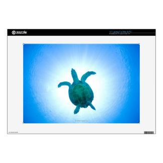 "Sea turtle swimming underwater skin for 15"" laptop"