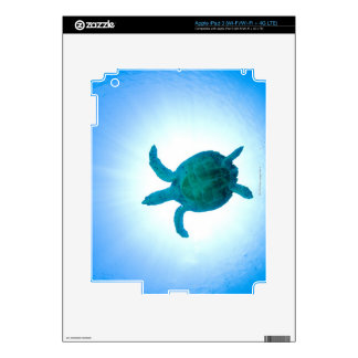 Sea turtle swimming underwater skin for iPad 3