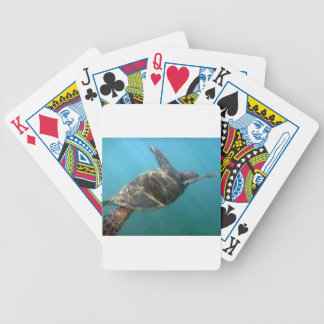 Sea Turtle swims in the water Playing Cards