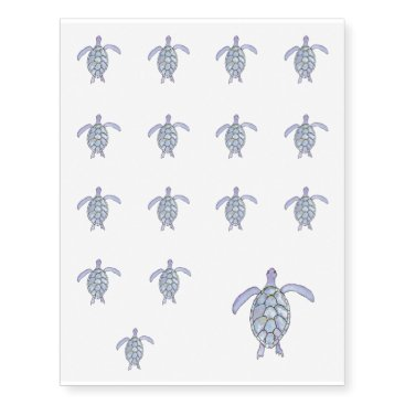 Beach Themed Sea Turtle Temporary Tattoos