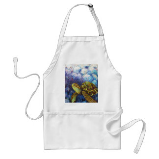 Sea Turtle, Texture Art Products Adult Apron