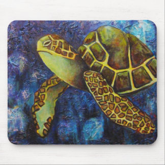 Sea Turtle, Texture Art Products Mouse Pad