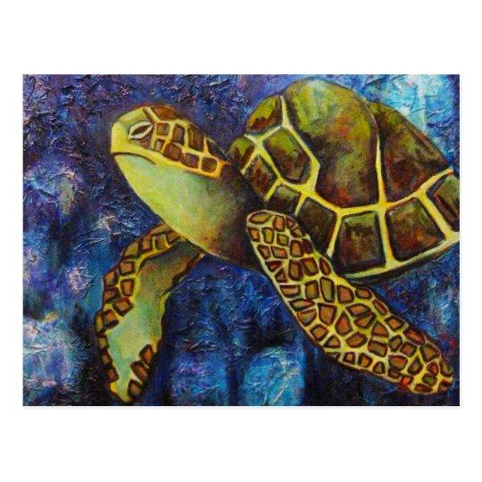 Sea Turtle, Texture Art Products Postcard
