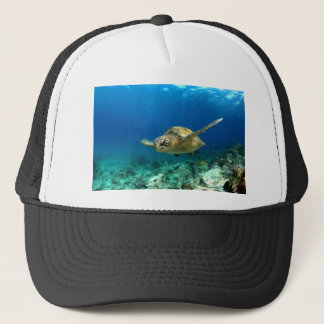 Sea turtle underwater trucker hat