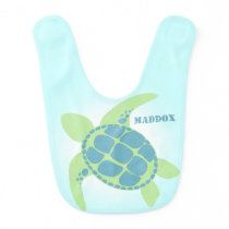 Sea Turtle with Name Bib