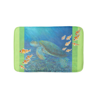 Sea Turtle with Personality Bathroom Mat