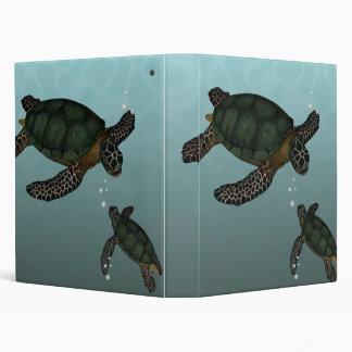 Sea Turtles 3 Ring Binder