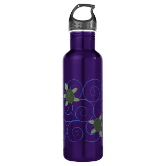 Sea Turtles and Swirls Water Bottle