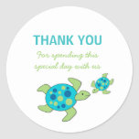 Sea Turtles Baby Shower Birthday Party favor Classic Round Sticker