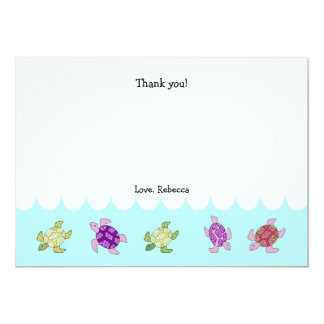 Sea Turtles Birthday Thank You Notes Card
