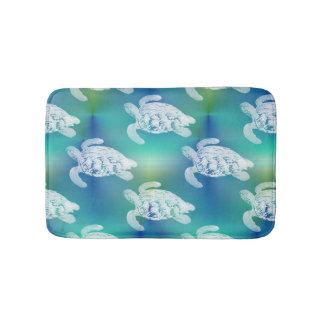 Sea Turtles Blue Aqua Bath Rug