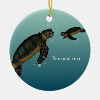Sea Turtles Ceramic Ornament