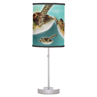 Sea Turtles Illustration Desk Lamp
