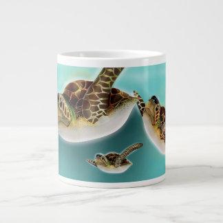 Sea Turtles Illustration Large Coffee Mug