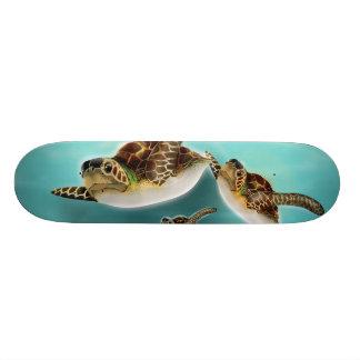 Sea Turtles Illustration Custom Skateboard