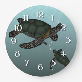 Sea Turtles Large Clock