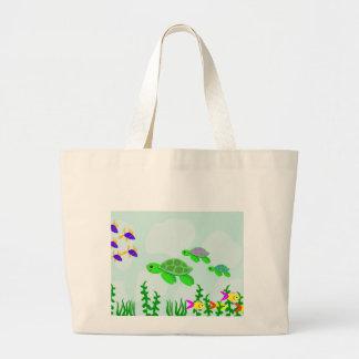 Sea Turtles Large Tote Bag