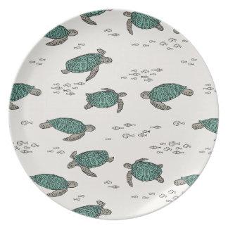 Sea Turtles Ocean Nautical Summer / Andrea Lauren Dinner Plate