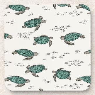 Sea Turtles Ocean Nautical Summer / Andrea Lauren Drink Coaster