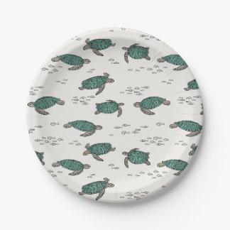Sea Turtles Ocean Nautical Summer / Andrea Lauren Paper Plate