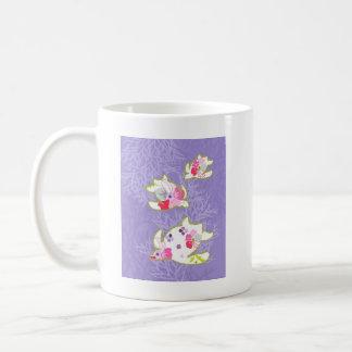 Sea Turtles on Plain violet background. Coffee Mug