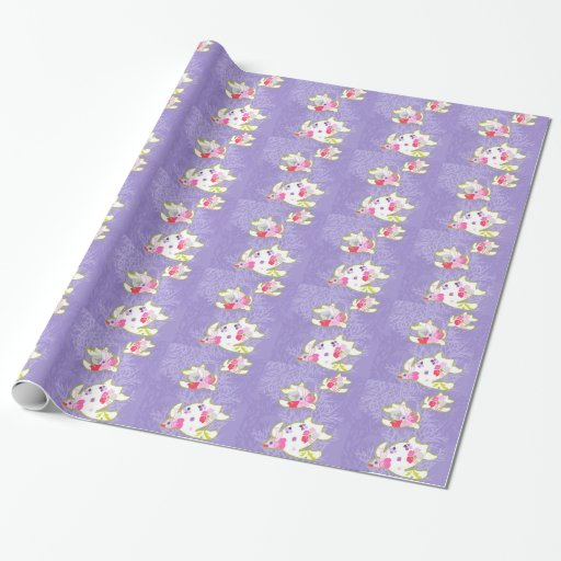 Sea Turtles on Plain violet background. Gift Wrap