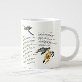 Sea Turtles Peace Prayer Poem Jumbo Mug