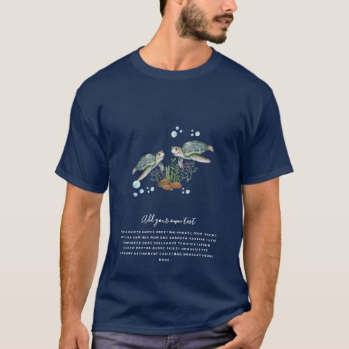 SEA TURTLES Personalized T-Shirt