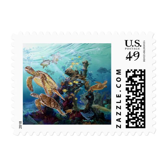 Sea Turtles Postage Stamp