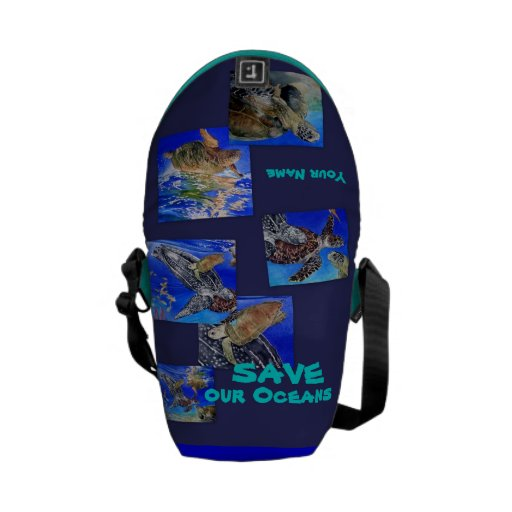 Sea Turtles Save our Oceans Bag Commuter Bags
