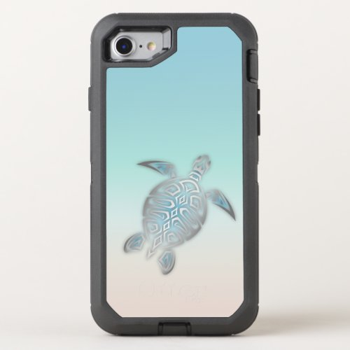 Sea Turtles Silver Beach Style Modern Tropical Phone Case