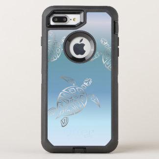 Sea Turtles Silver Blue Gradient OtterBox Defender iPhone 8 Plus/7 Plus Case