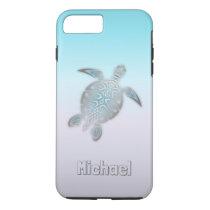 Sea Turtles Silver Monogram Animal iPhone 8 Plus/7 Plus Case