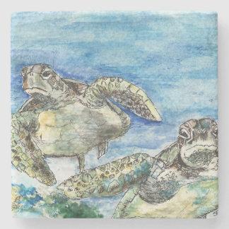 Sea Turtles Stone Coaster