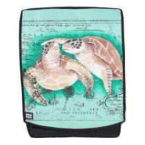 Sea Turtles Teal Backpack