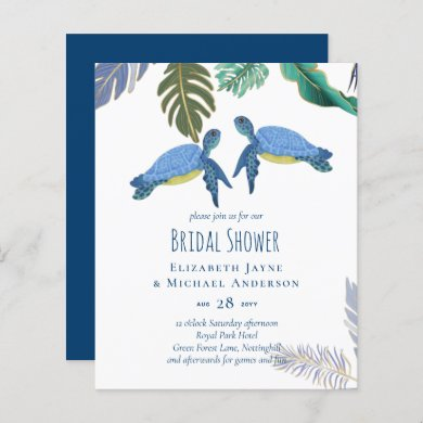 Sea Turtles Wedding Blue Yellow