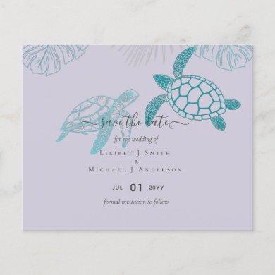 Sea Turtles Wedding Modern Line Art