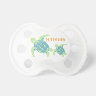 Sea Turtles with Baby's Name Pacifier