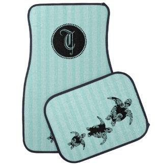 Sea Turtles with Monogram Car Floor Mat