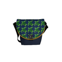 Sea Turtles with Sunglasses Messenger Bag