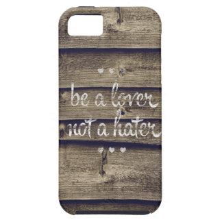 Sea un amante no un enemigo iPhone 5 Case-Mate cárcasas