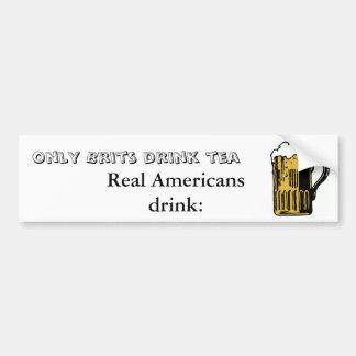 Sea un americano real - pegatina para el parachoqu pegatina para auto