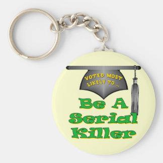 Sea un asesino en serie llavero redondo tipo pin