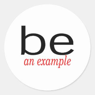 Sea un ejemplo pegatina redonda