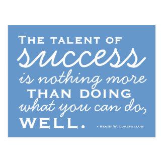 Sea un éxito - postal de motivación