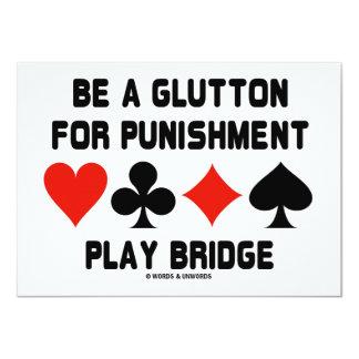 """Sea un Glutton para el puente del juego del Invitación 4.5"""" X 6.25"""""""