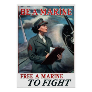 Sea un infante de marina - libere a un infante de  impresiones