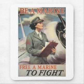 Sea un infante de marina - libere a un infante de alfombrilla de ratón