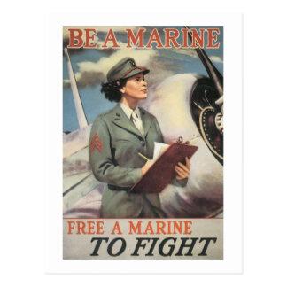 Sea un infante de marina - libere a un infante de tarjeta postal